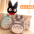 1 unids japón Anime Totoro almohada cojín relleno de dibujos animados juguetes blanco Totoro gato negro almohadas Cat juguete cojín