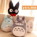 1pcs Japan Anime TOTORO Pillow Cushion Stuffed Plush Toys Cartoon White Totoro Black Cat Pillows Cat Cushion Toy