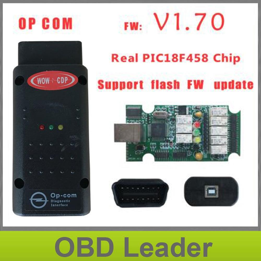 Prix pour 2017 Date OPCOM V1.70 firmware A + + + qualité OP-COM Pour Opel outil De Diagnostic OP COM avec réel pic18f458 peut être flash mise à jour