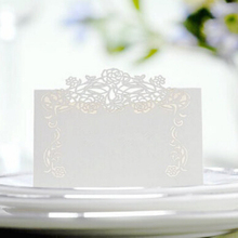 100pcs/lot Laser Cut Flower Vine Pattern Paper Card Marriage Party Banquet Place Table Number Name Holder wc405