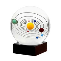 8CM Miniature Solar System Model Crystal Ball Laser Engraved Planet Ball Gifts Sphere Glass Globe Ornament Home Decor Gift