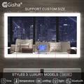 Gisha Smart Mirror светодиодный Зеркало для ванной комнаты ванная комната туалет анти-противотуманное зеркало с сенсорным экраном Bluetooth G8028