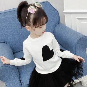 Image 2 - 소녀를위한 새로운 여자 스웨터 인쇄 스웨터 봄 아이 옷 십대 소녀 상위 10 대 소녀를위한 어린이 의상 6 8 12 년