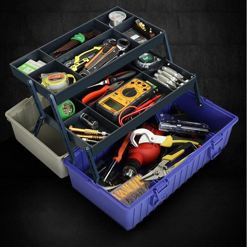 Portable three-tier high-capacity hardware caixa de ferramentas car maintenance tools storage box folding toolbox caja de herramientas tool box caixa de ferramentas tool kit car kits household tools hardware toolbox box to tool case icd90009