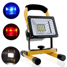 30W 24LED Spotlights Work Lights Outdoor Camping Light Built-in 18650 Battery With USB Ports To Charge Mobile SOS Survival Tool