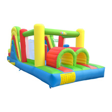 New Inflatable Bouncer Bounce House With Obstacle Inflatble slide Tunnel Climbing Wall Trampoline For Kids Jumper Castle