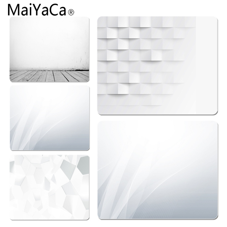 MaiYaCa White Office Mice Gamer Soft Mouse Pad Size for 18x22x0.2cm Gaming Mousepads
