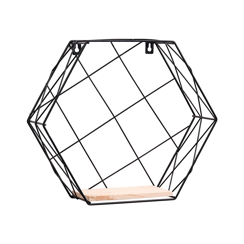 Hot Decorative Wall Shelves Hexagon Shelf Storage Holders Organization Wall Hanging Storage Racks Shelves on the Wall Home Decor