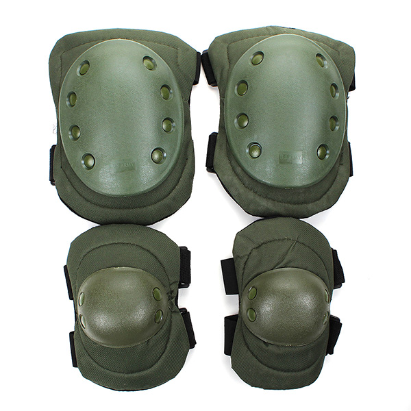 1 Set  Airsoft Tactical Adjustable Knee Elbow Protective Support Pads Protector Gear Sports Hunting Shooting Brace Guard 6 Color