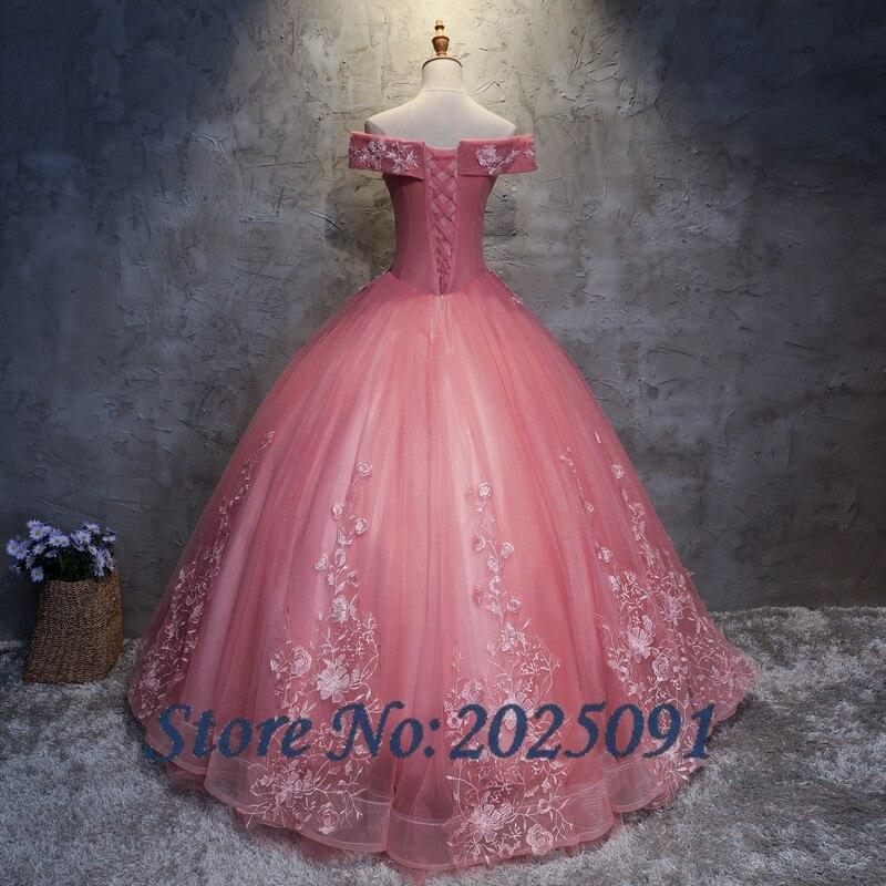 2019 nouveau camée brun Quinceanera robes Tulle avec dentelle Appliques mascarade robe De bal douce 16 robe Vestidos De 15 Anos - 3