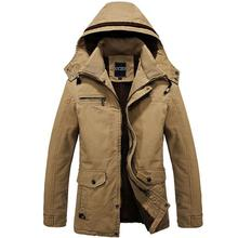 Winter Men Jackets and Coats Windproof Thick Warm Men's Long Trench Coat Clothing