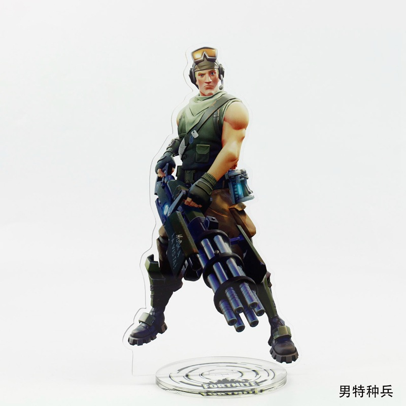 21cm Fortnite Characters Toys Action Figure Toys Acrylic Llama Bear Stand Model Toys Childrens Room Table Desk Decoration