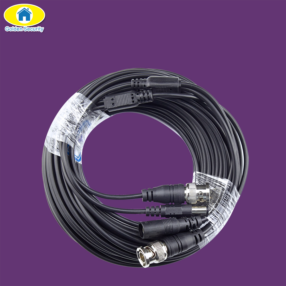 Golden Security BNC Cable CCTV Cable Video Output DC Plug Cable For AHD BNC System DVR Kit 5M/10M/15M/20M/30M/50M Optional