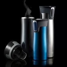 Thermosreisebecher thermo kaffee edelstahl saugnapf isolierte becher wasserflasche thermische tee flasche auto tassen mit beheiztem
