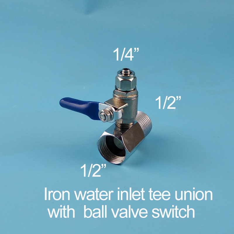 Water purifier iron three connection water intake tee fitting three-way piece 1/2