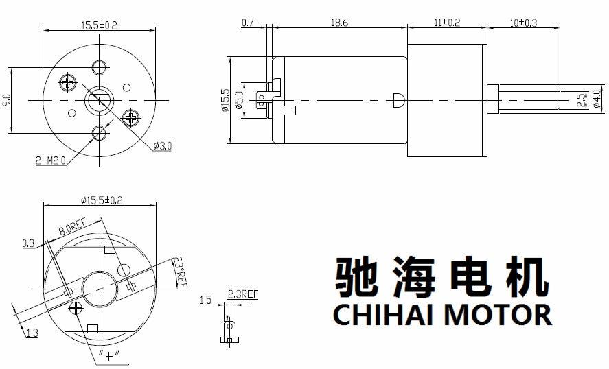 gear motor 16gr-030 chihaimotor