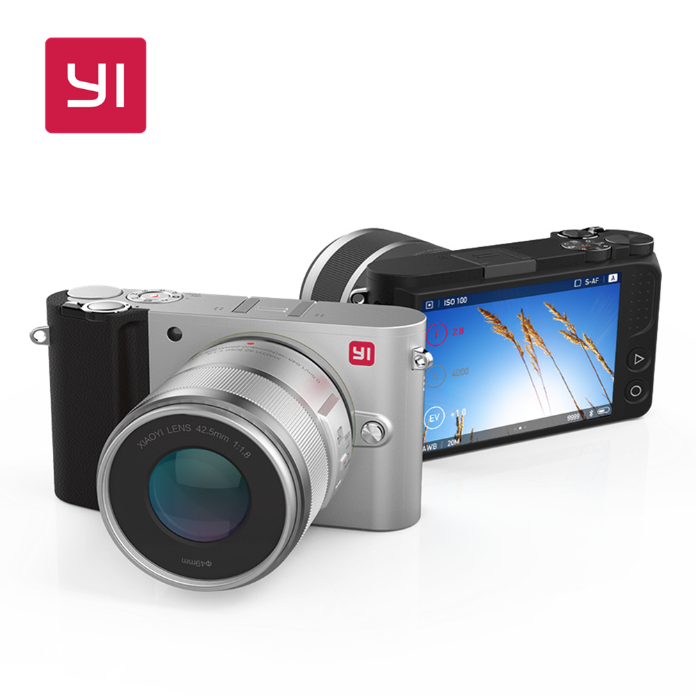 YI M1 Mirrorless Digital Camera 4k/30fps 3.0 LCD 20MP Video Recorder WIFI BT 81 AF Points 720RGB H.264 International Edition