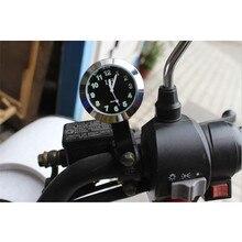 43mm Motorcycle Handlebar Clock Waterproof Mount for Yamaha Kawasaki Honda Suzuki Harley Silver