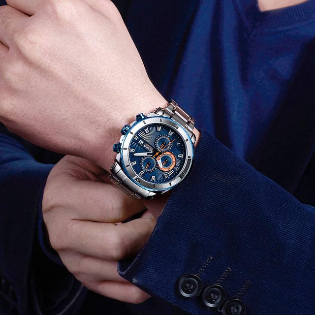 Mens Chronograph Quartz Luxury Watch