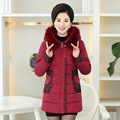 Fashion Down Jacket For Women Fur Collar Warm Coat outwear Woman Long Outerwear Thicken over coat Hooded Warm Long women coat