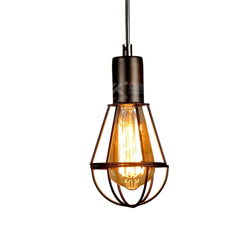 Loft Vintage Industrial Wind Cage Pendant Lamp E27 Holder Iron Pendant Light for Restaurant Bar Counter Attic Bookstore loft vintage industrial retro pendant lamp edison light e27 holder iron restaurant bar counter brief hanging lamp wpl098
