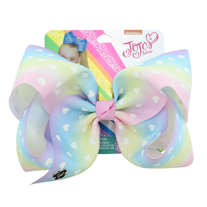 1Piece 8inch Boutique Party Girls Cartoon Bowknot With Clips Handmade Large Hair Bows Hairpin Fashion Hair Accessories in Hair Accessories from Mother Kids