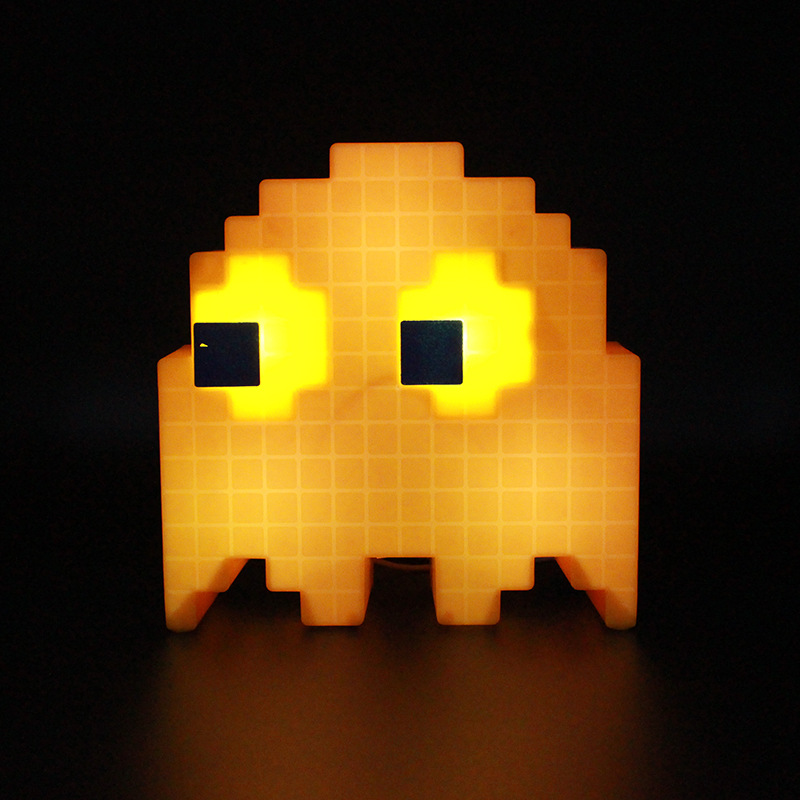 Pac-man Pixel Wars Colorful Color-changing Lights Pac-man Ghost Lights Party Music Desk Lamp