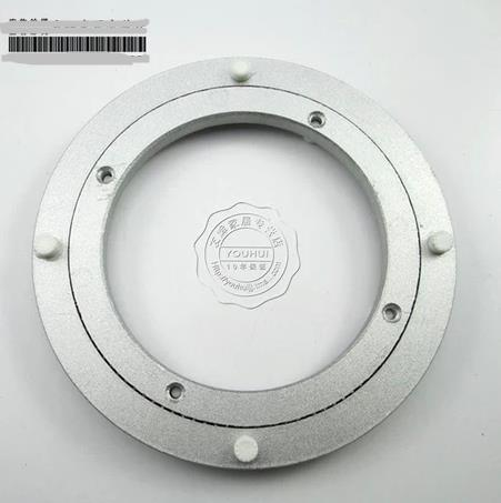 Diameter: 8inch/20cm Thick:9mm Aluminum Round Bearing Table Turntable Glass Universal Swivel Plated Base
