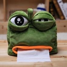 New  Sad Frog Feels Bad Man Tissue Box Cover Paper Dispenser Tissues Case Home Decoration Funny Gift 20*21cm