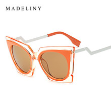 c01ec24f413 MADELINY New Fashion Women Cat Eye Sunglasses Brand Designer Vintage Sun  Glasses Vogue Sexy Summer Style sunglasses MA180