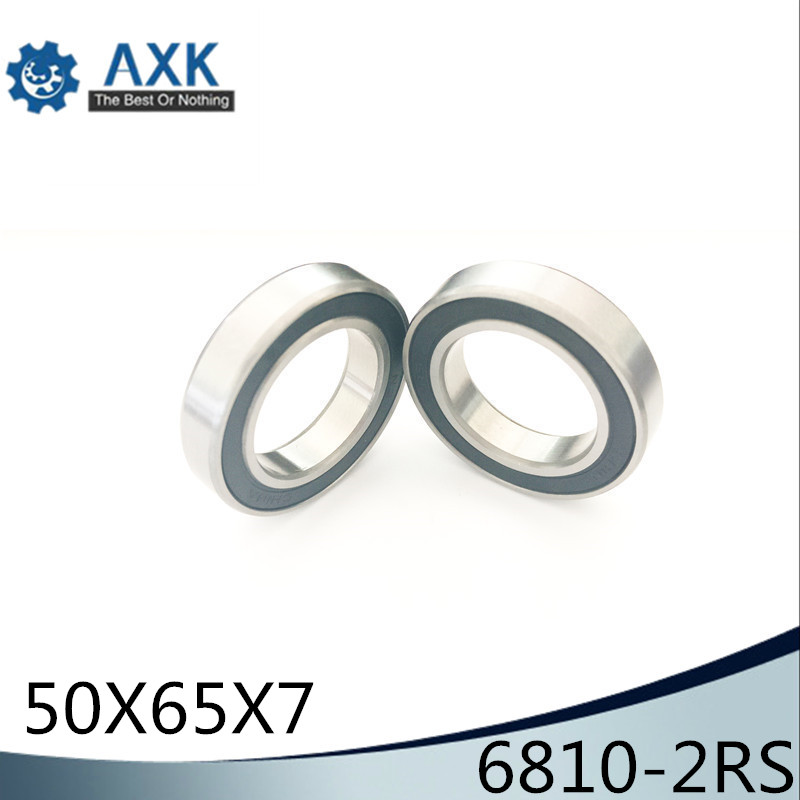 6810 RS 2RS Bearing ABEC-1 (10PCS) 50x65x7 mm Metric Thin Section 6810 2RS  Deep Groove Ball Bearings6810 RS 2RS Bearing ABEC-1 (10PCS) 50x65x7 mm Metric Thin Section 6810 2RS  Deep Groove Ball Bearings