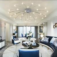 Современный sky star светодио дный LED кристалл потолочный светильник Гостиная теплый спальня ресторан Plafondlamp освещение подвеска блеск Cristal
