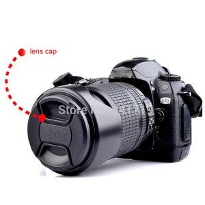 Image 2 - Frete grátis 100 pçs 49mm 52/55/58/62/67/72/77mm snap on capa de lente frontal para canon nikon olympus sony pentax sigma lente