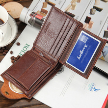 high quality short mens wallet Genuine leather purse for men
