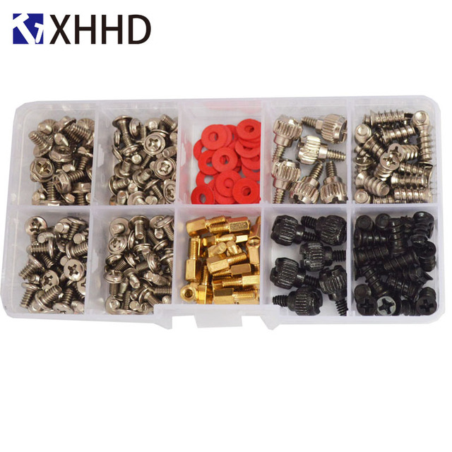 Hard Disk DIY Motherboard PC Personal Computer Assemble Case Fan Hand Screw Bolt Standoff Washer Set Assortment Kit Box 227pcs 1