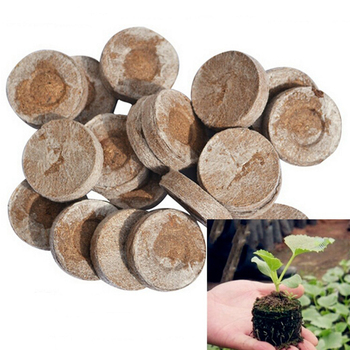 100pcs 30mm Professional NURSERY Peat Pellets Jiffy Plant Seedling Starting Soil Block Home Transplanting Plugs Garden Starter 1