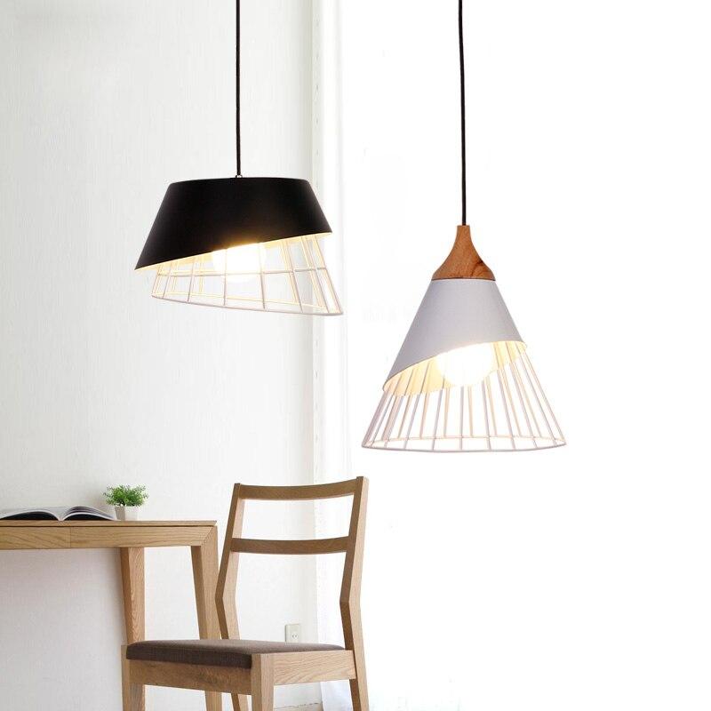Lampe à cage design scandinave design salle à manger bar Loft café suspension luminaire moderne