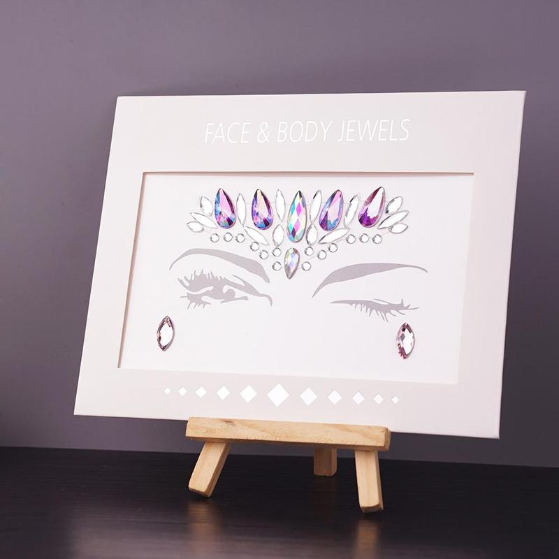 New Adhesive Face jewels Temporary Tattoo Face Festival Party Body