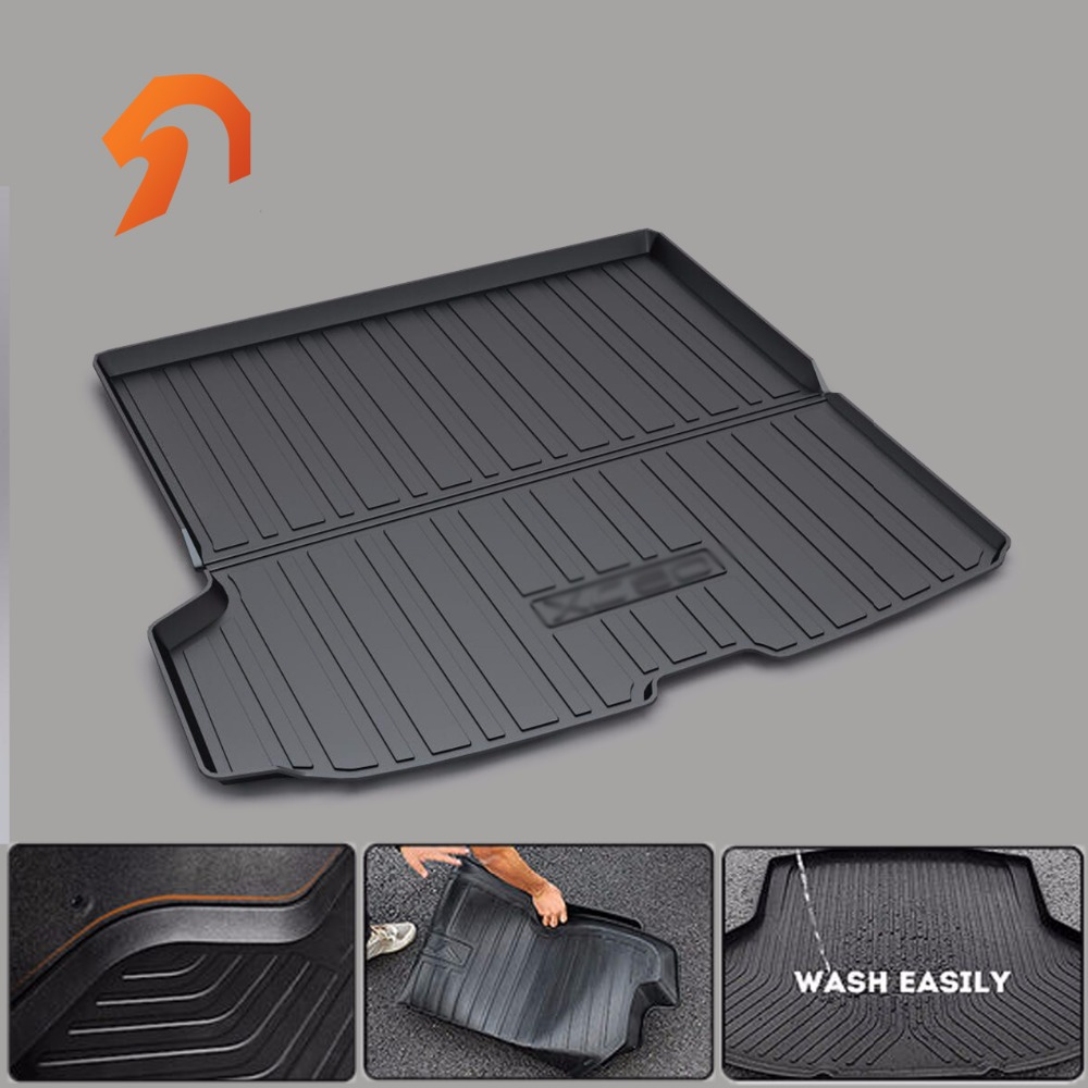 FIT FOR VOLVO XC90 2016 2017 BOOT LINER REAR TRUNK CARGO MAT FLOOR TRAY CARPET MUD COVER PROTECTOR 3D car-styling custom fit car trunk mat for cadillac ats cts xts srx sls escalade 3d car styling all weather tray carpet cargo liner waterproof