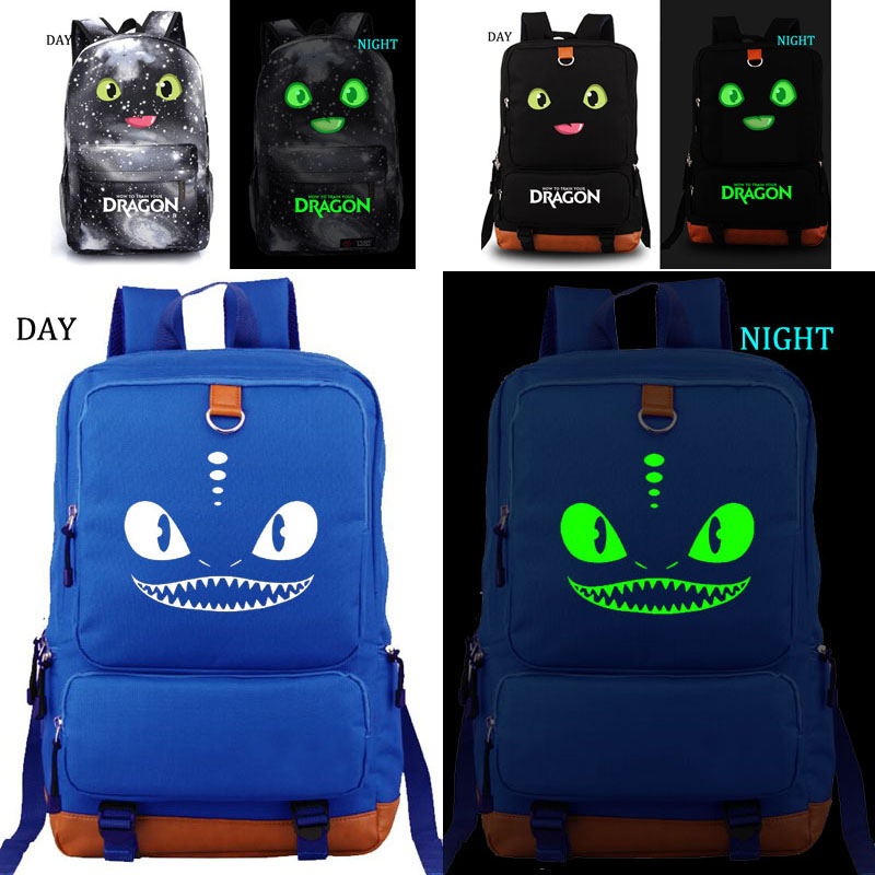 How to Train Your Dragon school bag noctilucous backpack student school bag Notebook backpack Daily backpack costa nova тарелка lisa 25 см lsp251 02203b costa nova