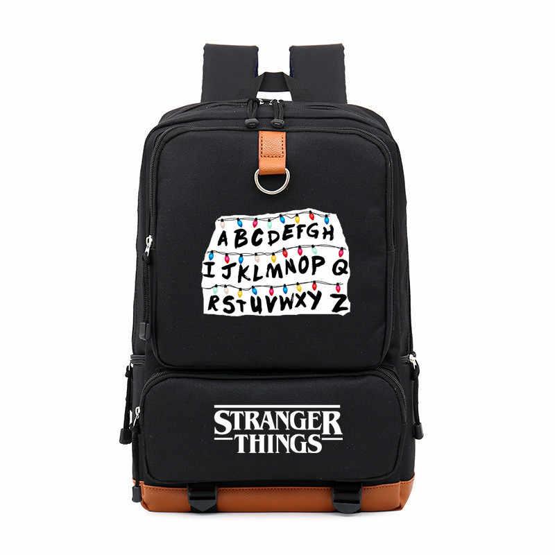 TV Series Riverdale Stranger Things Boy Girl Children School bag Women Bagpack Teenagers Schoolbags Canvas Men Student Backpack