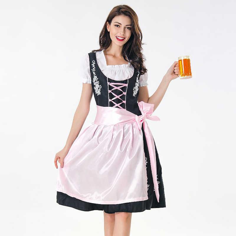 3d33a5b29a4 Для взрослых женщин Октоберфест нарядное платье Бавария Пиво девушка Хайди  горничной костюм Октоберфест