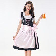 Adult Women Octoberfest Oktoberfest Fancy Dress Bavaria Beer Girl Heidi Maid Dirndl Outfit