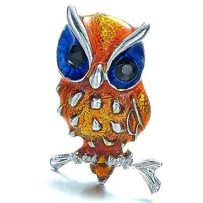 rhinestone brooch bule eyes women crystale brooches font b jewelry b font Animal brooch pins mini