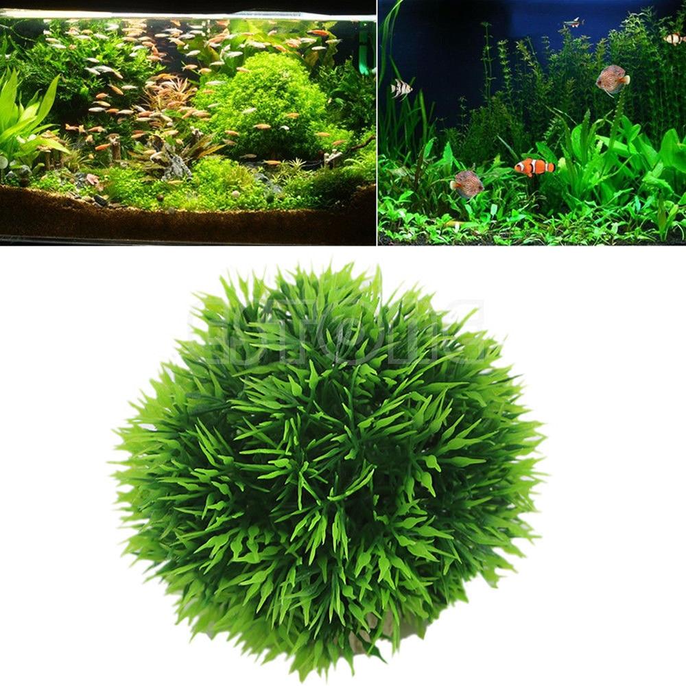 Aquarium Landscape Ornament Aquatic Water Grass Mini Leaf