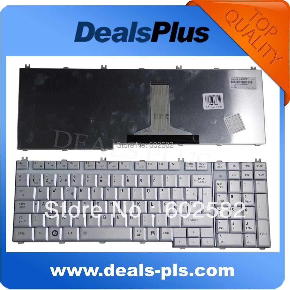 Клавиатура для ноутбука Подлинная Toshiba P200 P205 X205 испанская клавиатура Teclado Серебряный