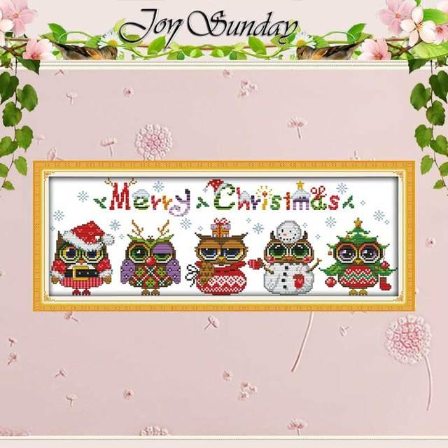 Navidad búhos patrones contados cross stitch dibujos animados Cruz ...