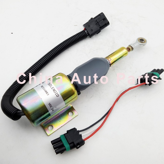 Fuel Shutoff Solenoid Re516083 24v For Johndeere 200lc 230lc 270lc 160lc 120 230lcr Excavator