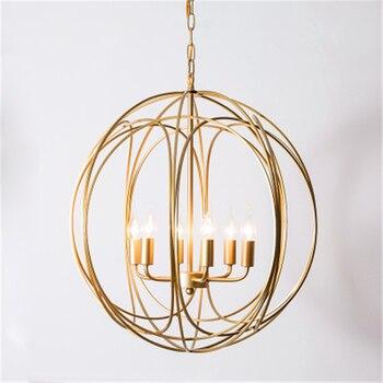 Скандинавское искусство E14 Led Позолоченные железные подвесные светильники для гостиной Mpdern подвесные лампы Кухонные светильники подвесные...