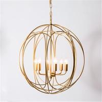 Nordic Kunst E14 Led Goldene Eisen Anhänger Lichter für Wohnzimmer Mpdern Anhänger Lampen Küche Leuchten Hängen Ring Lampen Leuchte